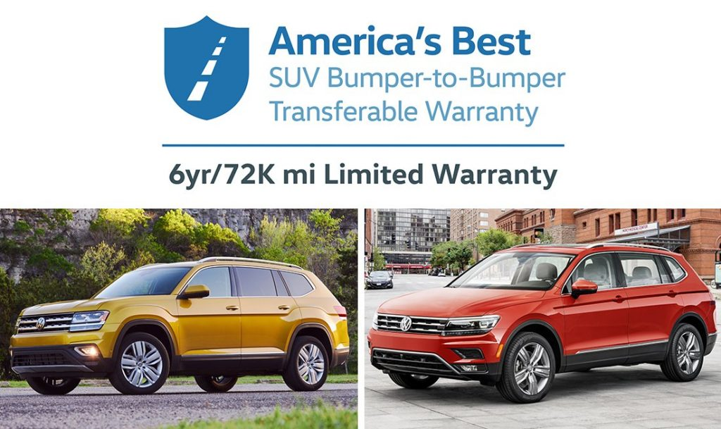 volkswagen launches america 39 s best suv bumper to bumper transferable warranty on 2018 atlas and. Black Bedroom Furniture Sets. Home Design Ideas